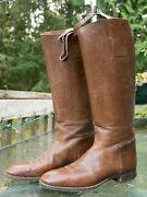 Antique Original Ww1 Era Us Cavalry Riding Boots With Boot Trees And Boot Hooks
