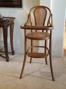 Antique Jacob And Josef Kohn Extremely Rare Childs Bentwood High Chair Approx 1867