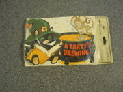 Vintage Hallmark Halloween Party Invitation Cards Cat Witchparty Is A Brewing