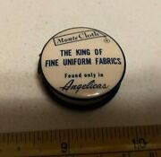 Vtg Angelica Uniforms Monte Cloth Chicago Advertising Celluloid Measuring Tape