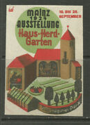 Germany/mainz 1927 House, Hearth And Garden Exhibition Poster Stamp/llabel