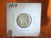 1919 1926 1929-s 1930 1934 And 1935-d Buffalo Nickels Very Good / Fine