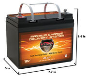 Vmax857 35ah Agm U1 Battery For Watersnake Trolling Motor With 30lb Thrust