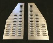 Steel Angled Louver Panel Set 32x13 Louvered Pair Hood Vent Engine Cooling Scta