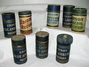 Lot Of 8 Phonograph Cylinder Records Various Recordings Edison Amberol As Is