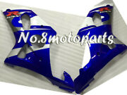 New White Blue Injection Left Right Side Fairings Fit For 2000-2002 Gsxr 1000 K2