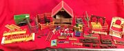 Playmobil Horse Barn Stable Corral Set Trailer Fence Feeders Lot