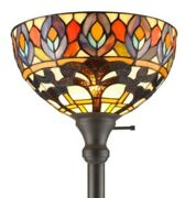 72 Amora Lighting Style Peacock Torchiere Lamp Lamps Torch Floor 72