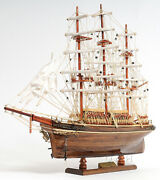 The Cutty Sark 1869 Wooden Tall China Clipper Ship Model 22 Fully Built New
