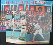 Lot Of 9 Boston Red Sox 1970and039s Official Game Programs Rice/eckersly 153971
