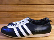 60's Adidas Nippon Color Black X White Leather Made In West Germany Uk11