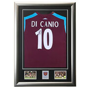 Signed Paolo Di Canio West Ham United Shirt Framed Display