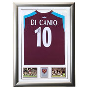 Signed Paolo Di Canio West Ham United Shirt Framed Display - White