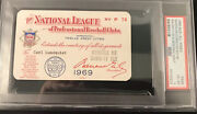 1969 Psa Ticket Pass Mets Win Pennant/willie Mays 600 Hr/seaver Cy/padres 1st Ex