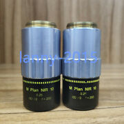 1pc Used Mitutoyo M Plan Nir 10x/0.26 Near Infrared Objective Lens Yx