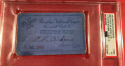 1950 Brooklyn Dodgers Psa Ticket Pass Gil Hodgers 4 Hr One Game 17 Total Bases
