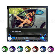 7 Car Stereo Radio Dvd Cd Player Fm/am Flip Out Touch Screen In Dash Single Din