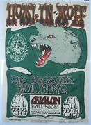 Fd 27 Op Howlinand039 Wolf Concert Poster Family Dog Avalon Mouse Signed Cgc Graded 7