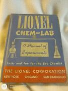 Lionel Chem-lab Hard Cover First Edition 1942 Fair Condition Rare