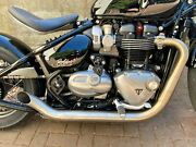 Triumph Bobber 2017-2020 Massmoto Exhaust Full-system 2in2 Hot-rod Brushed