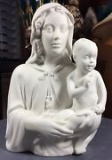 Boehm Porcelain Rare Alba Madonna And Child Bisque Undecorated 350 Made