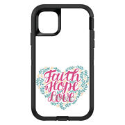 Otterbox Defender For Apple Iphone Pick Model Faith / Hope / Love - Floral