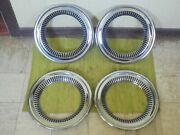 57 58 59 Chevy Cameo Truck Trim Rings 15 Set 4 Hubcap Surround 1957 1958 1959