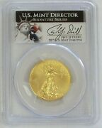 2013 Gold 25 American Eagle 1/2 Oz Coin Philip Diehl Signed Pcgs Mint State 70