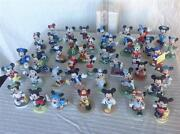 Mickey Mouse Schmid And Enesco Bisque Figurines Set Of 64 - 3- 4 - Excellent