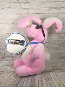 Vtg 80's Energizer Bunny Pink Promotional Plush Bunny Large 24'' Tall