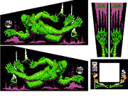 Creature From The Black Lagoon Pinball Machine Cabinet Decal Set