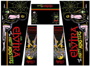 Elvira And The Party Monsters Pinball Machine Cabinet Decal Set