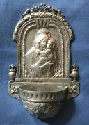 302-antique Silver German Holy Water Font