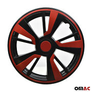 16and039and039 Hubcaps Wheel Rim Cover Black With Red Insert 4pcs Set For Mazda