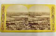 Boston Photo Stereoview Panorama N From Bunker Hill Monument Charlestown Mass Rp