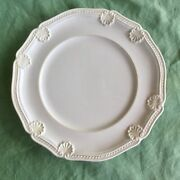 """San Marco Italy 8.5"""" Salad Plate Smg12 White Shell Rope Ceramic Dinnerware"""