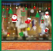 Window Decal Stickers- 4x Holiday Winter Christmas Window Decorations Ornaments