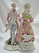 Lefton China Colonial Man And Woman Figurine Exquisite Fine Porcelain Yn3075