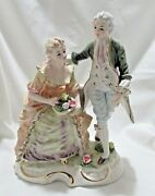Lefton China Colonial Man And Woman Figurine Exquisite Fine Porcelain Yn3074