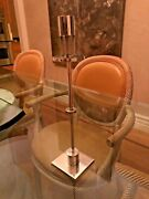 2 Ettore Sottsass For Swid Powell Silver Plated/brass Candlesticks