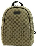 New Original Gg Canvas Travel Backpack