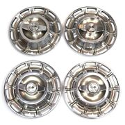 1959-1962 Corvette Hub Caps Hubcaps Wheel Covers With Spinners Set Of 4 Original