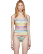 Missoni Mare Multicolor Zig Zag One-piece Swimsuit Womenand039s Size 10 Us 67621