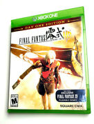 Final Fantasy Type-o Hd Day One Edition Xbox One Vg+ Complete In Box