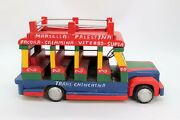 Hand Made Wooden Vintage Truck Spanish Mexican Taxi