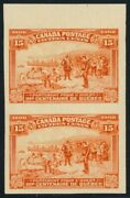 102a - 15c Quebec Imperforate Pair - Fresh Mint Never Hinged