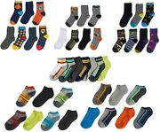 Socks Boys Crew Ankle 7 Pair Pack Lot Wholesale Cushioned Toddler Kids Free New
