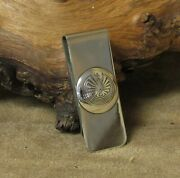 Southwest Money Clip With Sterling Silver Man In The Maze Design