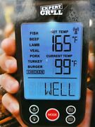 Expert Grill Wireless Grilling Thermometer Up To 100 Ft/backlit Led Screen/5 Set