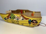 Leakin Lena Beany And Cecil Pound N Pull Wooden Toy Bob Clampett Cartoon Vintage